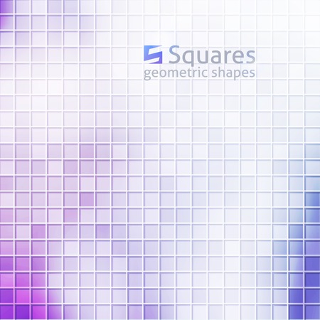 vector abstract background with squares and  of letter S, purple color Vector