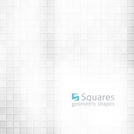 vector abstract background with squares and  of letter S, light gray color Vector