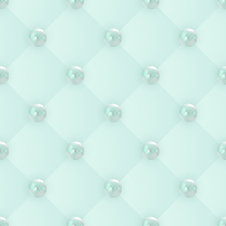 vector seamless pattern of realistic mint green pearls Vector