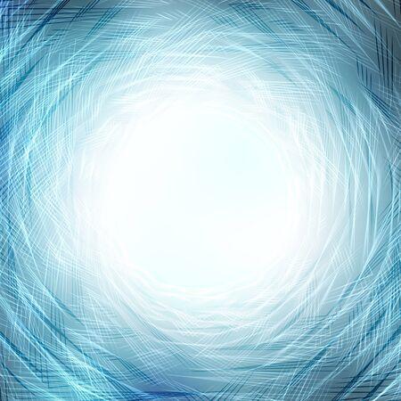 water vortex: blue vortex of lines, abstract background
