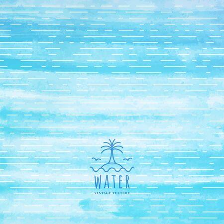 vintage texture de l'eau avec la paume et les vagues