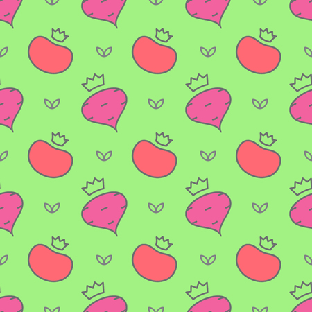 beets: seamless pattern of vegetables - tomatoes and beets