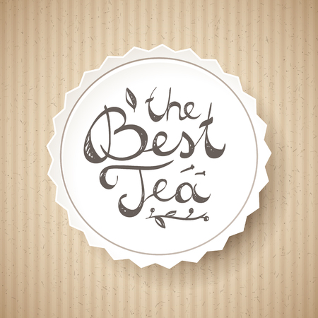 writting: the best tea, vector handwritten text, lettering composition