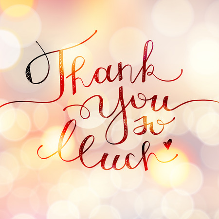 so: thank you so much, vector handwritten lettering