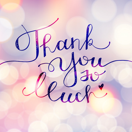 thank you so much, vector handwritten lettering