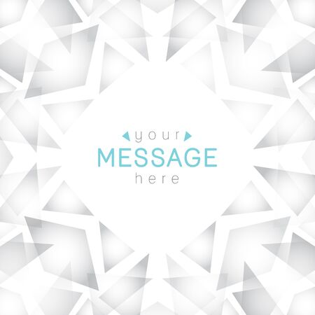 white abstract: geometric background of rhombus and triangles with place for text
