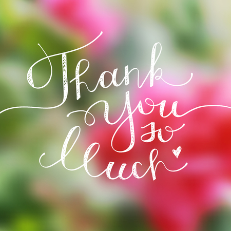 you: thank you so much, vector handwritten lettering