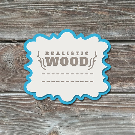 western wall: realistic wood texture with vintage paper frame