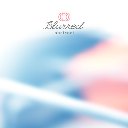 vector abstract background with blurred lines and shapes Illustration