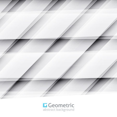 gray pattern: vector geometric abstract background of parallelograms and lines