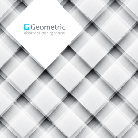 intersect: vector geometric abstract background of square shapes