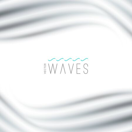 Vector abstract background with blurred waves. Illustration