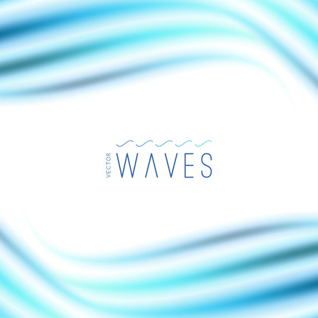 vector abstract background with blurred waves on white