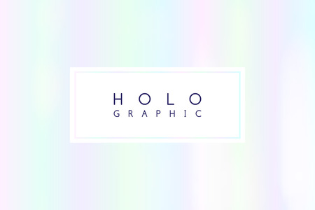 vector holographic white abstract background, rainbow texture