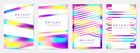 vector multicolor abstract geometric backgrounds, cover templates set of blurred bright spots and geometric shapes