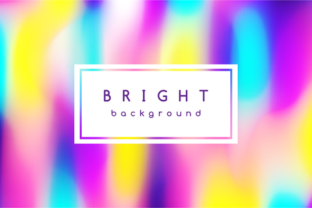 Trendy vector abstract background of blurred bright multicolor spots with frame for text.