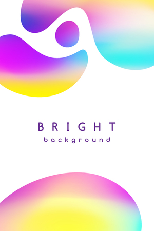Vector booklet cover template, abstract background with bright blurred spots, geometric shapes and space for text