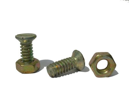 mounting:           closeup of bolts and nuts