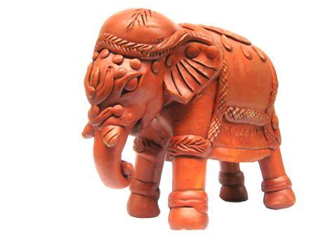 terra:           Terra Cotta elephant Stock Photo