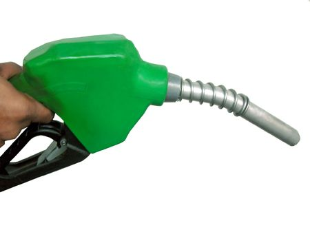 isolated Gas Pump nozzle on white