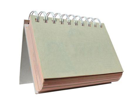 chronologie: Isol� de table Daily planificateur sur blanc