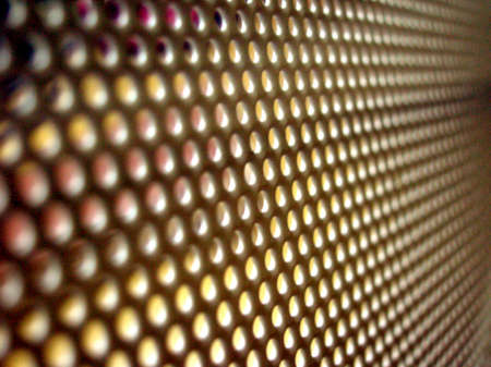 view of a  metal mesh grid as an abstract pattern Stock Photo - 2419372