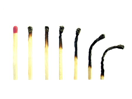 Life Cycle Of a Match Stock Photo