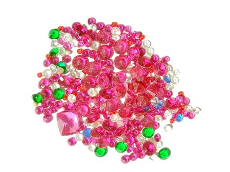 an assortment of polished semi-precious stones photo