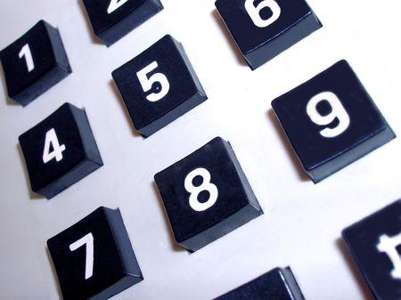 close-up of a telephone key pad photo