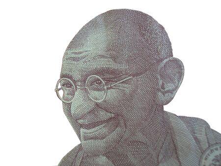 Mahatma Gandhi as seen on indian bank note