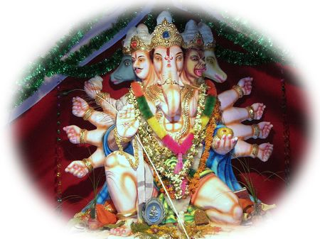 Lord Ganesha -annual event of Ganesh festival  celebrations-the idols are worshipped for 11 days and immersed in water after the festival Stock Photo