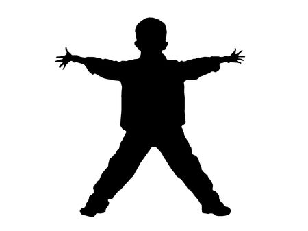 Boy with his arms wide open- Stock Photo - 2657772