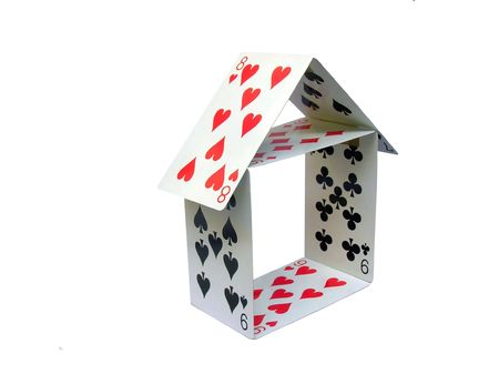 House made with Cards Stock Photo