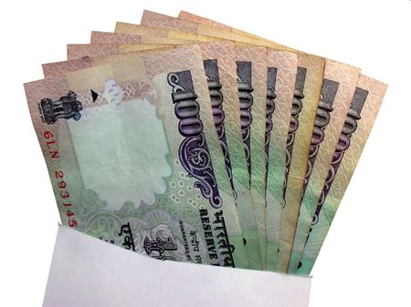 rupees:      Money In Envelope-indian rupees