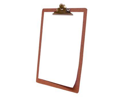 Blank Clipboard-side view