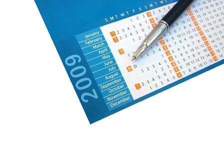 Calendar 2009 with a pen