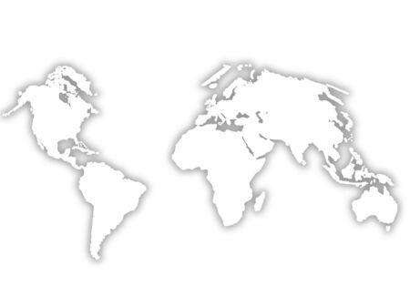 World Map isolated on white     Stock Photo