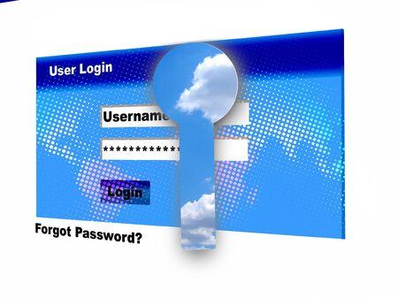User Login   -www concept   Stock Photo