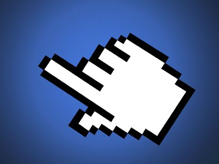 rendered mouse pointer-cursor Stock Photo
