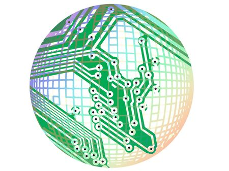 soldering:           Circuit board with soldering points abstract design Stock Photo