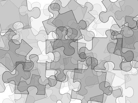 illustration of  puzzles on white background Stock Photo