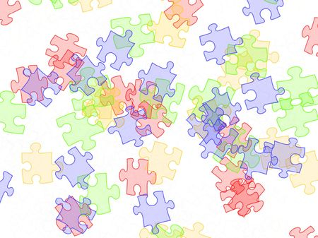 illustration of colorful  puzzles on white background Stock Illustration - 4277901