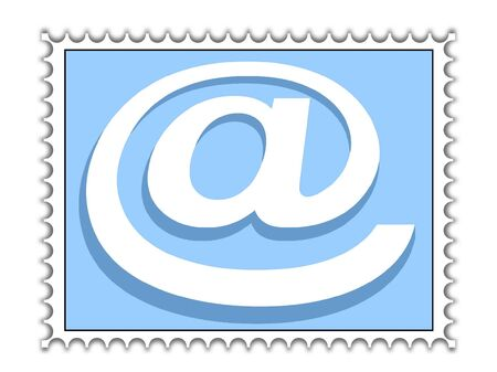 @-stamp-email concept Stock Photo - 4309683