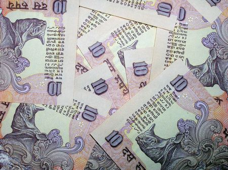 indian money:           Indian rupees background