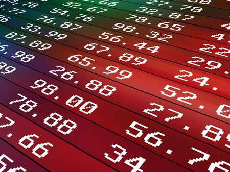 stock price:           Financial numbers Background Stock Photo