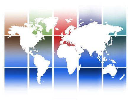 World Map background Stock Photo - 6134206