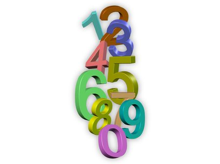 colorful 3d numbers Stock Photo - 6394673