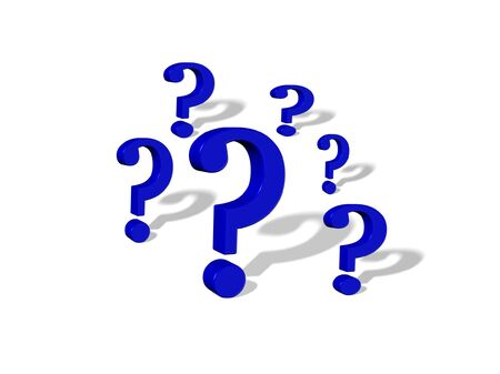3D Question Marks Stock Photo - 6394684
