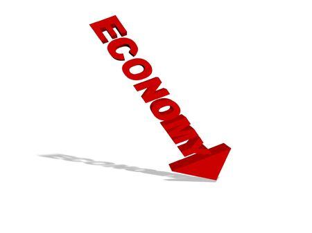 breakage: falling Economy Stock Photo