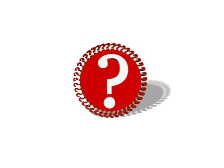 smaller: BIG QUESTION MARK and smaller question marks